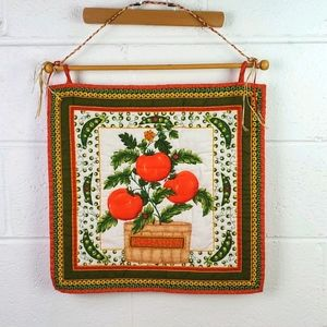 Vintage Tomatoes Quilted Wall Hanging
